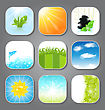 Illustration Set Various Backgrounds For The App Icons - Vector