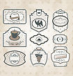 Set Of Vintage Ornate Labels Decor Design Elements