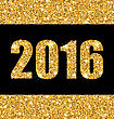 Illustration Shimmering Background With Golden Dust For Happy New Year - Vector