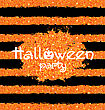 Illustration Shine Orange Wallpaper For Happy Halloween Party. Holiday Template, Bright Background - Vector