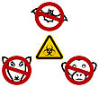 Illustration Stop Signs In Order To Avoid Disease Ebola Virus - Vector