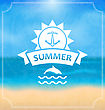 Illustration Summer Template Of Holidays Design And Typography . Beach Vacation, Party, Travel, Paradise - Vector