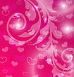 Illustration Valentine Day Template With Abstract Floral Elements And Light Effect - Vector