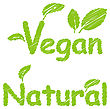 Illustration Vegan And Natural Green Texts Label With Leaves, For Your Advertising Design - Vector