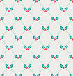 Illustration Vintage Seamless Wallpaper With Holly Berries, Winter Pattern - Vector