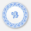 Illustration White Plate With Russian National Ornament In Gzhel Style, Empty Ceramic Plate - Vector