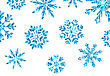Illustration Winter Background With Blue Snowflakes For New Year, Glittering Elements, Holiday Luxury Background - Vector