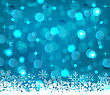 Illustration Winter Frozen Snowflakes Background With Copy Space For Your Text - Vector