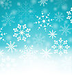 Illustration Xmas Blue Background With Snowflakes And Copy Space For Your Text - Vector