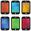 Illustrations Set Of Colorful Wallpaper For Mobile Phones. Blurred Backgrounds - Vector