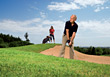 In A Golf Sandtrap stock image