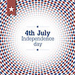 Independence Day. 4th Of July. Poster Design With Blue And Red Checkered Abstract Background stock illustration