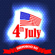 Independence Day Of America. American Flag Starry Background