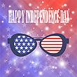 USA Independence Day Of America. American Sunglasses Background stock illustration