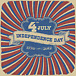 Independence Day Retro Style Abstract Background. Vector Illustration, EPS 10 stock illustration