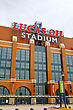 INDIANAPOLIS - APRIL 11: Lucas Oil Stadium On April 11, 2014 In Indianapolis, Indiana. It's A Multi-purpose Stadium In Downtown Indianapolis Officially Opened To The Public On August 16, 2008 stock image