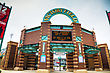 INDIANAPOLIS - APRIL 11: Victory Field Stadium On April 11, 2014 In Indianapolis, Indiana. It's A Minor League Baseball Park That Is The Home Of The Indianapolis Indians Of The International League stock photography