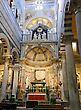 Indoor Interior Of Cathedral Duomo On Miracoli Square Of Miracles In Pisa, Italy stock photo
