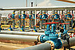 Industrial Valves, Inlet Gas From The Wells To The Plant For Processing