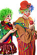 Inequity In The World Of Clowns. Funny Pictire stock photo