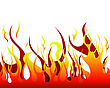 Inferno Fire Vector Background stock illustration