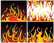 Inferno Fire Vector Backgrounds Set