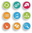 Infographics Icons Set. Modern Business Concept Vector Illustration