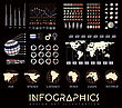 Infographics Vector Set Illustration On Black Background