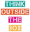 "Inspirational Quote.""Think Outside The Box"", Vector Format"