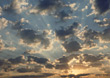Inspirational Sky With Clouds stock photo