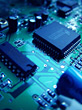 Processor Integrated Circuit Board stock photo