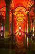 Reservoir Interior Of Basilica Cistern In Istanbul, Turkey stock photography