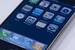 iPhone Home Screen Close-Up stock photography