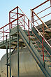 Iron Industry Staircase Leading Up To The Tank stock image