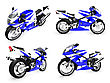 Isolated Collection Of Bikes