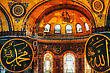 Sofia ISTANBUL - APRIL 9: Interior Of Hagia Sophia In Istanbul On April 09, 2013. Hagia Sophia Is A Former Orthodox Patriarchal Basilica (church), Later A Mosque, And Now A Museum stock image