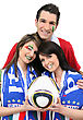 Italian Football Fans stock photography