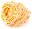 Italian Pasta Tagliatelle Nest Isolated On White Background stock photography