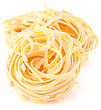 Italy Italian Pasta Tagliatelle Nest Isolated On White Background stock photo