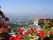 Italy, Republic San Marino Top View stock image