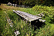 Jackson Bay New Zealand Weathered Picnic Table stock image