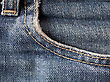 Textile Jeans Pocket stock image