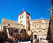 JERUSALEM - DECEMBER 16: Entrance To The Church Of Holy Sepulcher On December 16, 2013 In Jerusalem. It's The Site Venerated As Golgotha (the Hill Of Calvary), Where Jesus Was Crucified stock photo