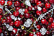 Jewels At Fruit Red Ripe Cherries Berry Background