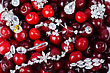 Jewels At Fruit Red Ripe Cherries Berry Background stock image