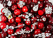 Jewels At Fruit Red Ripe Cherries Berry Background stock photography