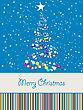 Joyous Christmas Card With Room For Text stock vector