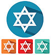 Flatdesign Judaism Star Of David Flat Design Icon Vector Illustration stock vector