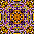 Kaleidoscopic Ornamental Round Seamless Pattern With Many Details