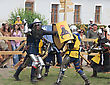 KAMYANETS-PODILSKY- JUNE 2: Fighting Knights During Forpost (The Outpost) Festival Of Medieval Culture On June 2, Ukraine stock photo